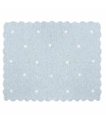 Manta crocket azul claro