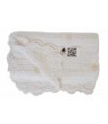Manta crocket blanca