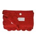 Manta crocket roja