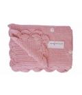 Manta crocket rosa