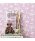 Papel pintado Bosque Encantado Rosa