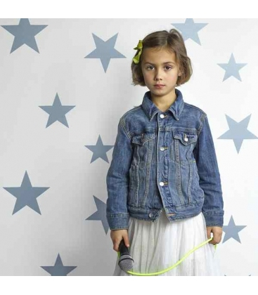 Papel pintado Estrellas Azul Grisáceo