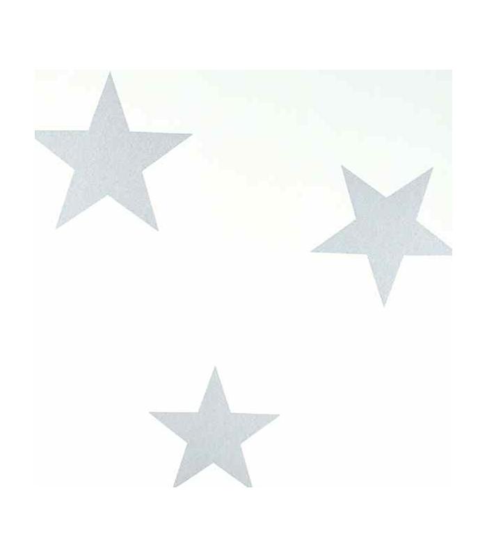 Papel pintado para ni o de estrellas disponible en varios - Papel pintado color plata ...