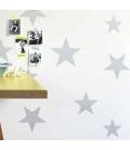 Papel pintado Estrellas Plata