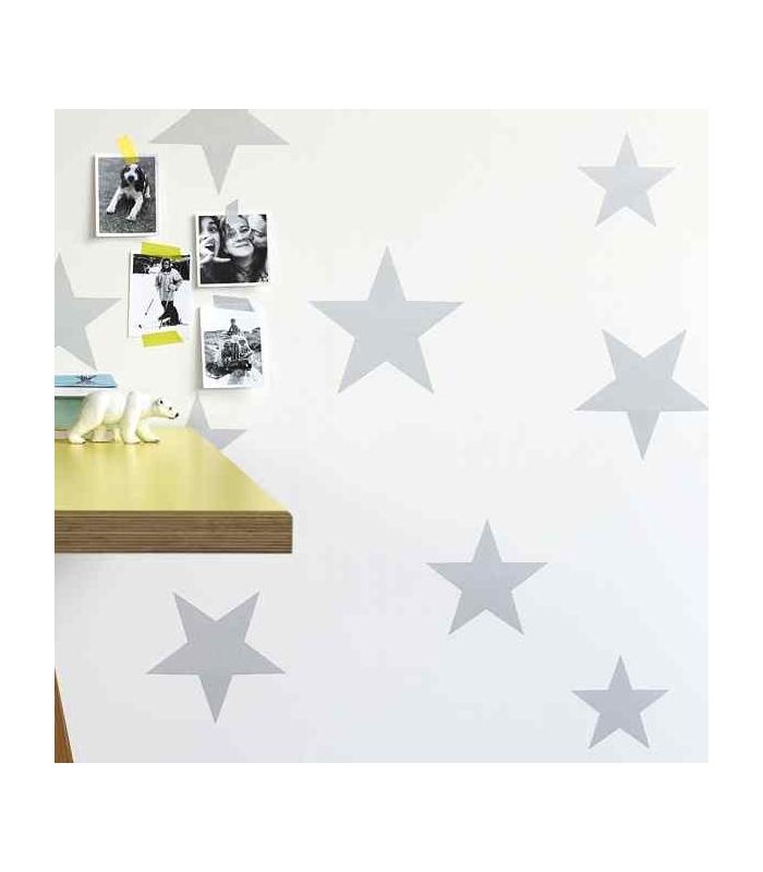 Papel pintado para ni o de estrellas disponible en varios modelos de chulakids - Papel pintado color plata ...