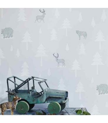 Papel pintado Rutas Salvajes gris