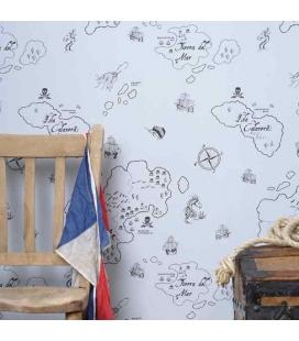 Papel pintado Piratas Blanco