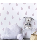 Papel pintado lluvia-rosa