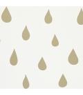 Papel pintado lluvia-oro