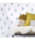 Papel pintado lluvia-azul