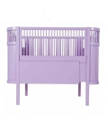 Cuna extensible diseño Danés Violeta (colchón incluido)