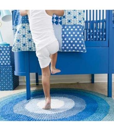 Cuna extensible diseño Danés Azul (colchón incluido)