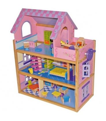 Casa de muñecas, rosa