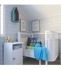 Cuna extensible diseño Danés Blanca (colchón incluido)