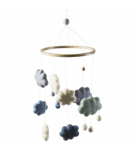 Movil de Nubes Azul