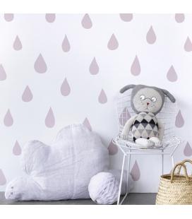 Papier peint gouttes de pluie