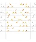 Mural Pajaritos amarillo