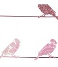 Mural Pajaritos rosa