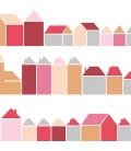 Mural Casas rojo