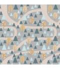 Mural Camino Árboles gris