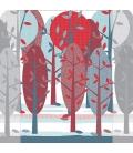 Mural Bosque de Árboles